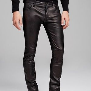 John Varvatos Collection the rocker leather jeans